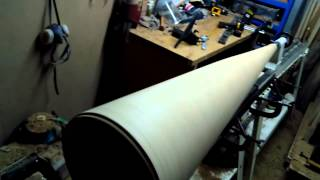 Turning A Long Floor Lamp On 2 Lathes