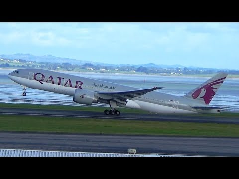 Qatar Airways | B777-2DZ(LR) | Takeoff Auckland Airport | A7-BBC