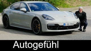 Porsche Panamera Turbo FULL REVIEW 550 hp Autobahn test driven 2018/2017 - Autogefühl