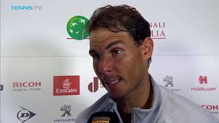 Nadal Explains How He Overcame Fognini In Rome 2018
