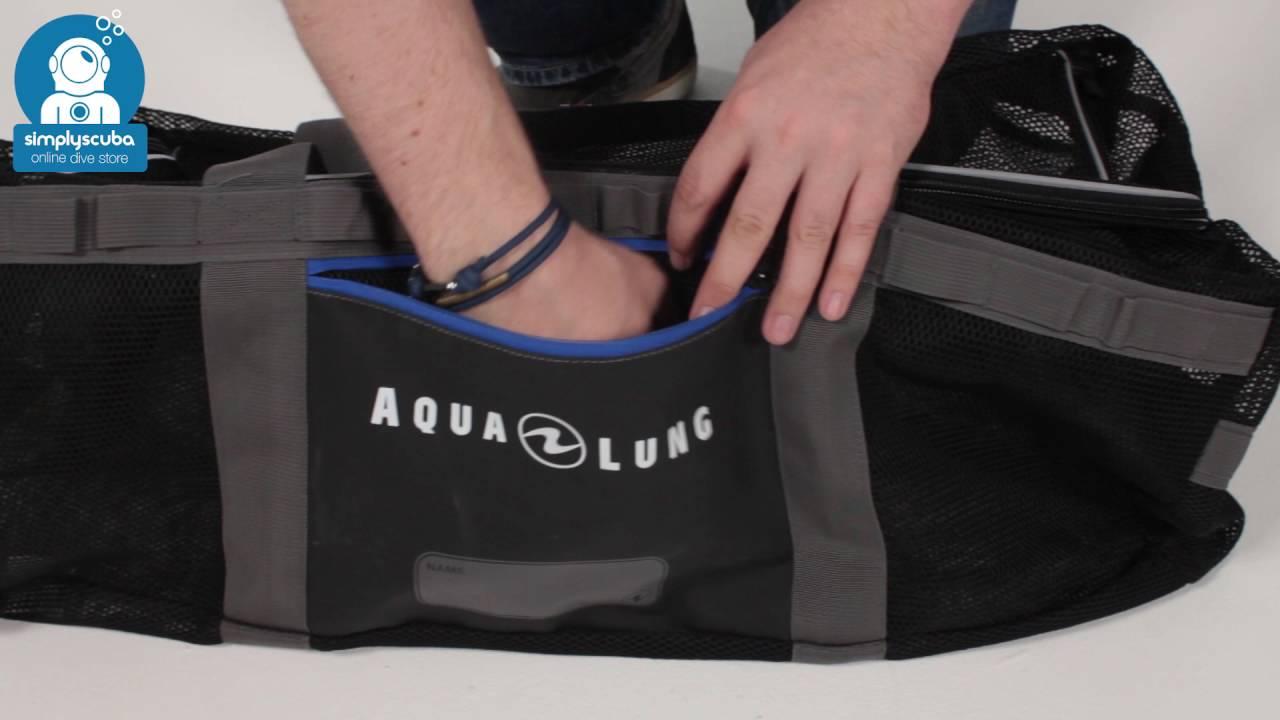 9506164045 AQUA LUNG Explorer Mesh Duffle Bag - www.simplyscuba.com - YouTube