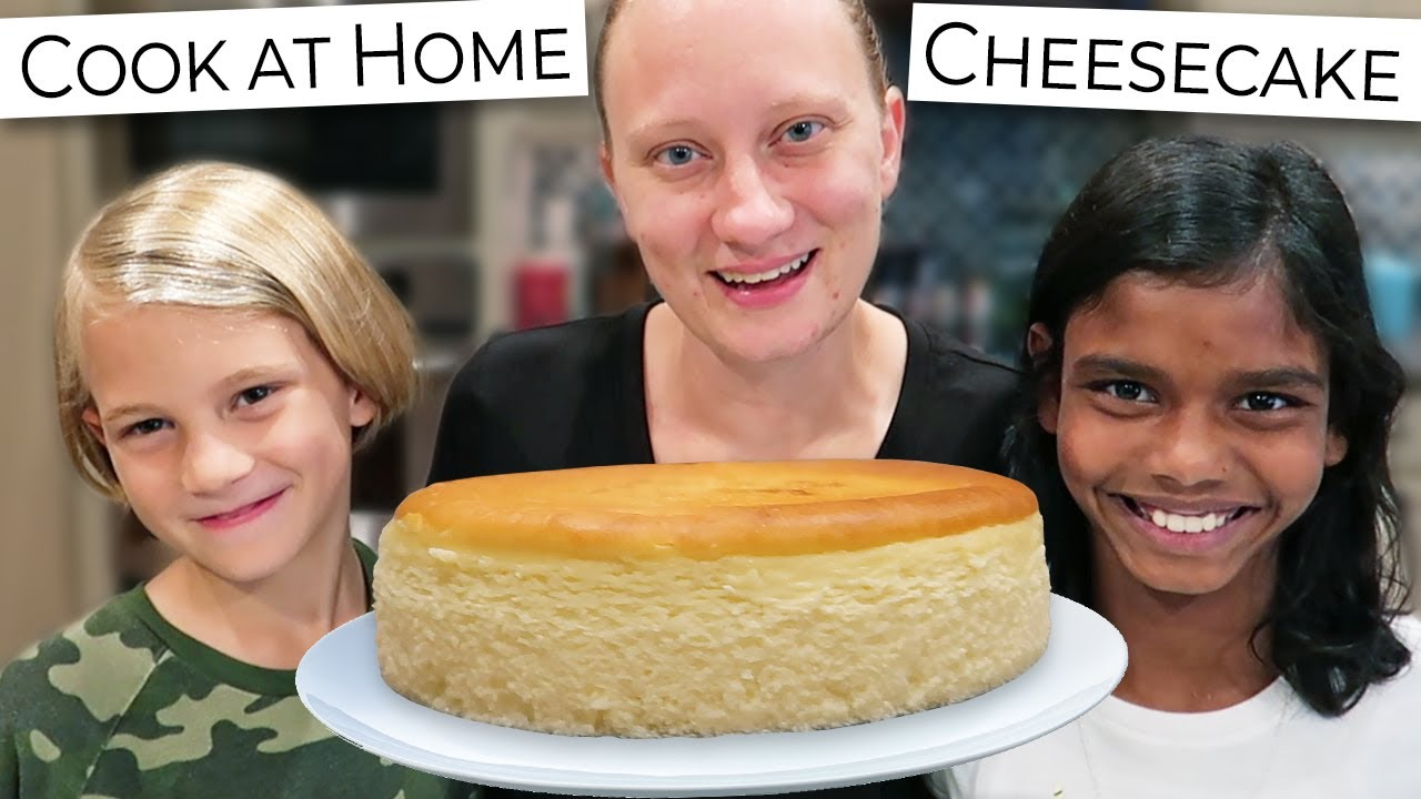Mother Daughter Son Bake Cheesecake // Dad's Birthday Gluten Free Cook At Home #StayHome