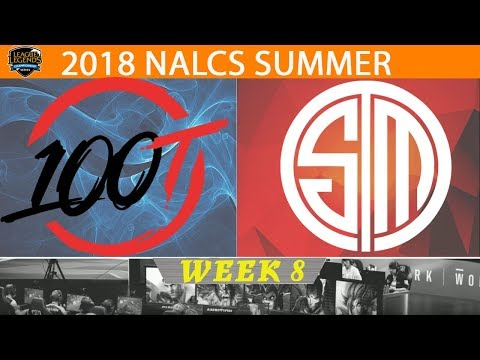 Rerun: FOX vs 100 - TSM vs 100 - TL vs C9 - NA LCS Summer (2018) | Week 8