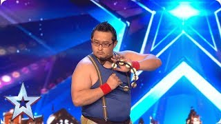 Gonzo shakes up the competition with tambourine MASTERCLASS | Auditions | BGT 2019
