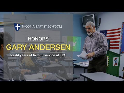 Tacoma Baptist Schools Honors Gary Andersen