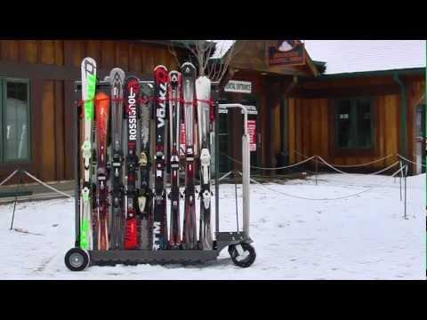 Alpine Valet mobile ski rack