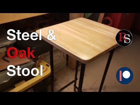 DIY - How to Make A Steel & Wood Stool / Bar Stool / Shop Stool