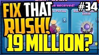 19 MILLION Walls? Fix That Rush - Clash of Clans - Episode 34
