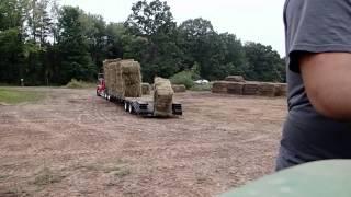 Unloading Hay