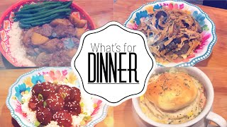 WHAT'S FOR DINNER | DUMP AND GO CROCK POT MEALS | QUICK AND EASY WEEKNIGHT MEALS IN YOUR SLOW COOKER