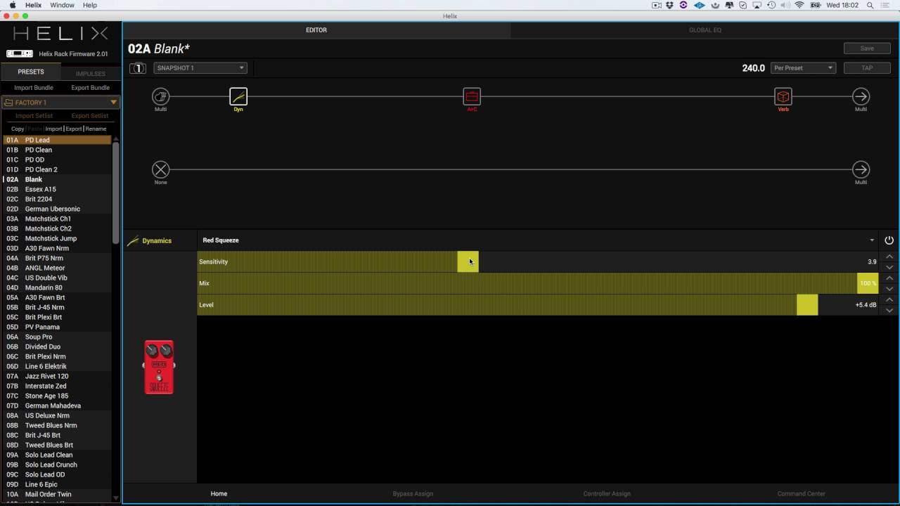 Using The Line 6 HELIX Editor To Quickly Create Guitar Tones