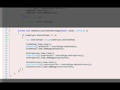 A simple .NET reflector in C#