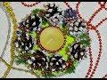 Поделки - Подсвечник из шишек новогодний декор поделки своими руками