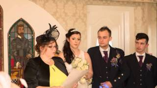Wedding Album DVD Slideshow Ross & Meghan, Three Kings, Falkirk, 1st April 2016