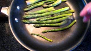 Quick & EASY How to cook Organic Garden Fresh Asparagus in Boiling Water Video Butter Salt recipe