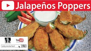 Jalapeños Poppers | Botana | Vicky Receta Facil