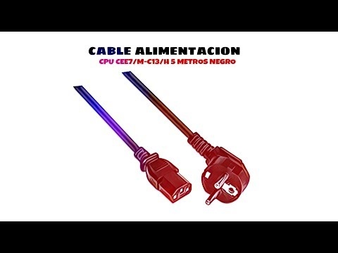 Video de Cable de alimentacion CPU CEE7/M-C13/H 5 M Negro