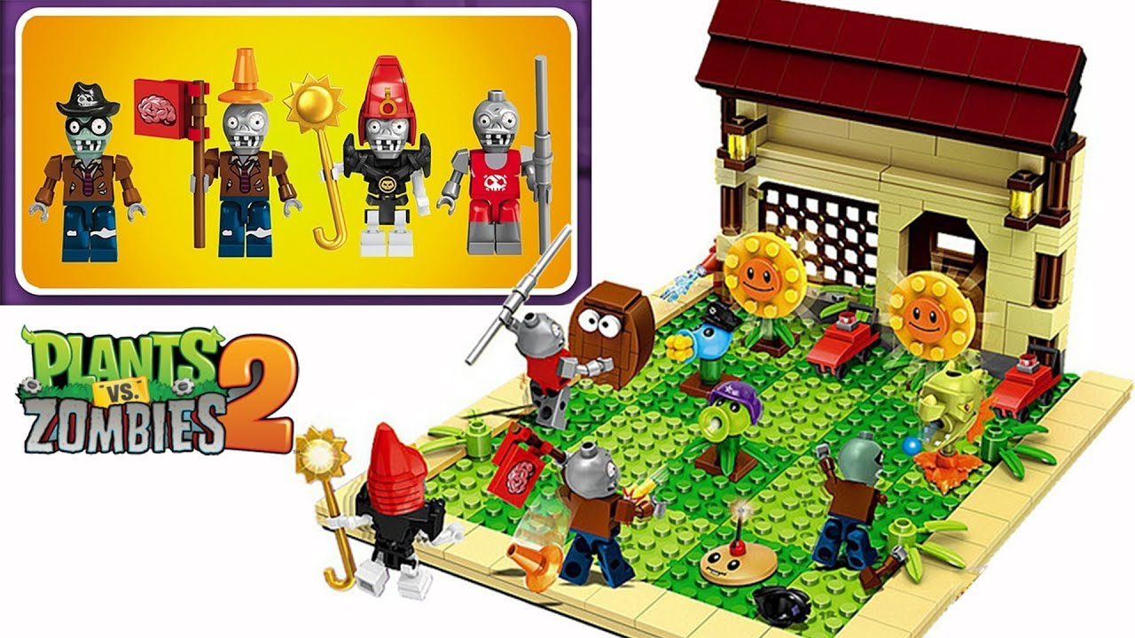 Let 39 s build lego plants vs zombies pvz 2 playset for Zombie build