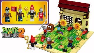 Let's build Lego Plants vs Zombies PVZ 2 Playset Peashooter Ra Conehead Cowboy Zombie DIY thumbnail