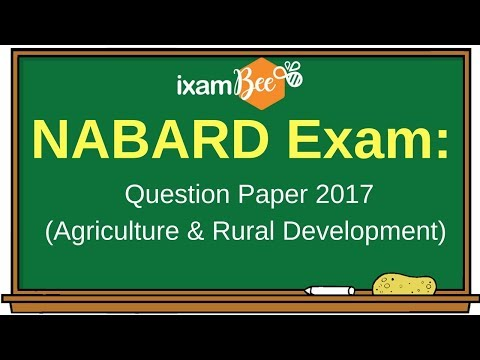 Nabard Grade A Question Paper 2017 (Agriculture & Rural Development