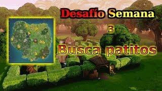 Busca PATITOS DE GOMA | CON MAPA | Desafio Semana 3 Fortnite Battle Royale | Zeraus