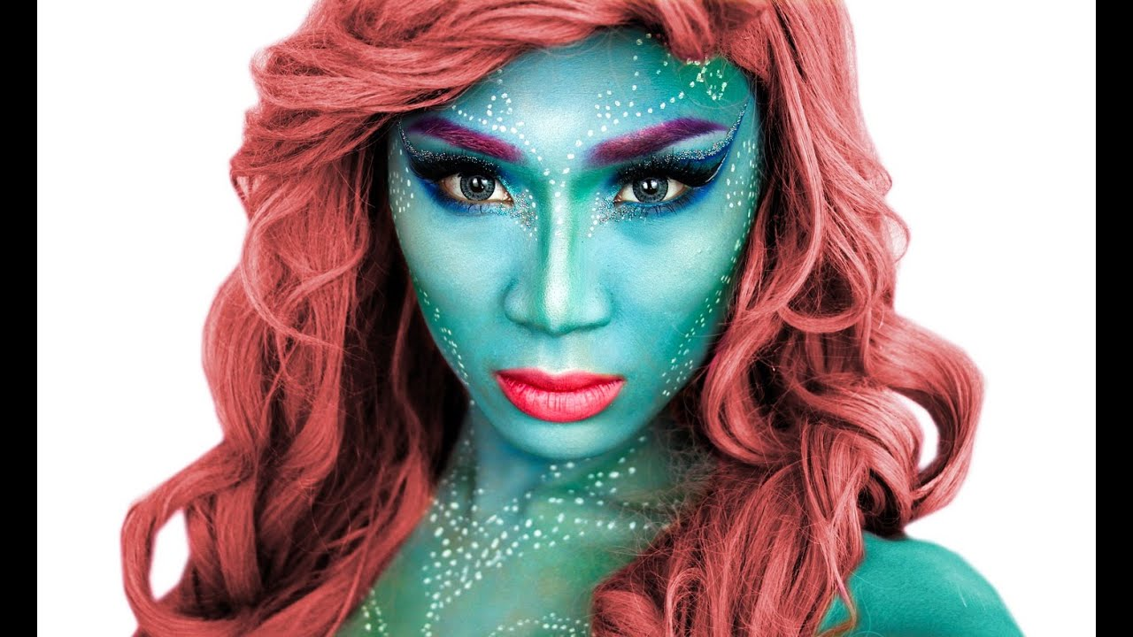 mermaid halloween makeup tutorial theprinceofvanity youtube. Black Bedroom Furniture Sets. Home Design Ideas