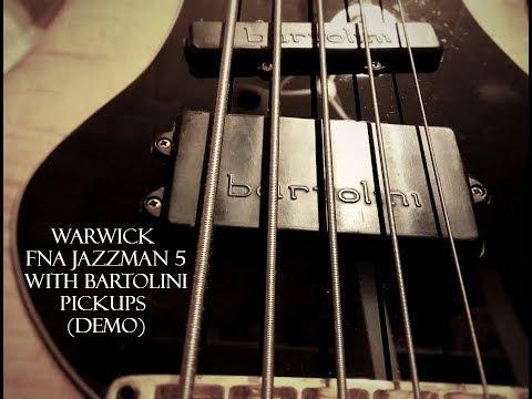 Warwick Corvette FNA Jazzman 5 With Bartolini Pickups Demo