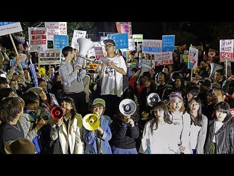 市民団体が国会前で反対集会 安保関連法施行 (2016/03/29)北海道新聞