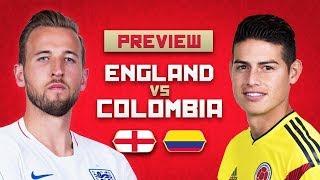 مباراة منتخب انجلترا ومنتخب كولومبيا