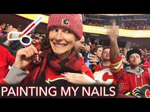 Painting My Nails at a Hockey Game (eh 馃嚚馃嚘)
