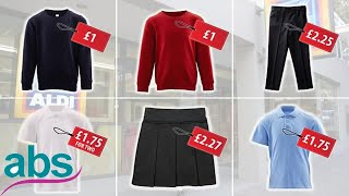Aldi launches £5 uniform for the new school year  | ABS US  DAILY NEWS