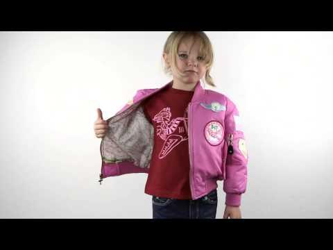 Girl's Pink MA-1 Flight Jacket