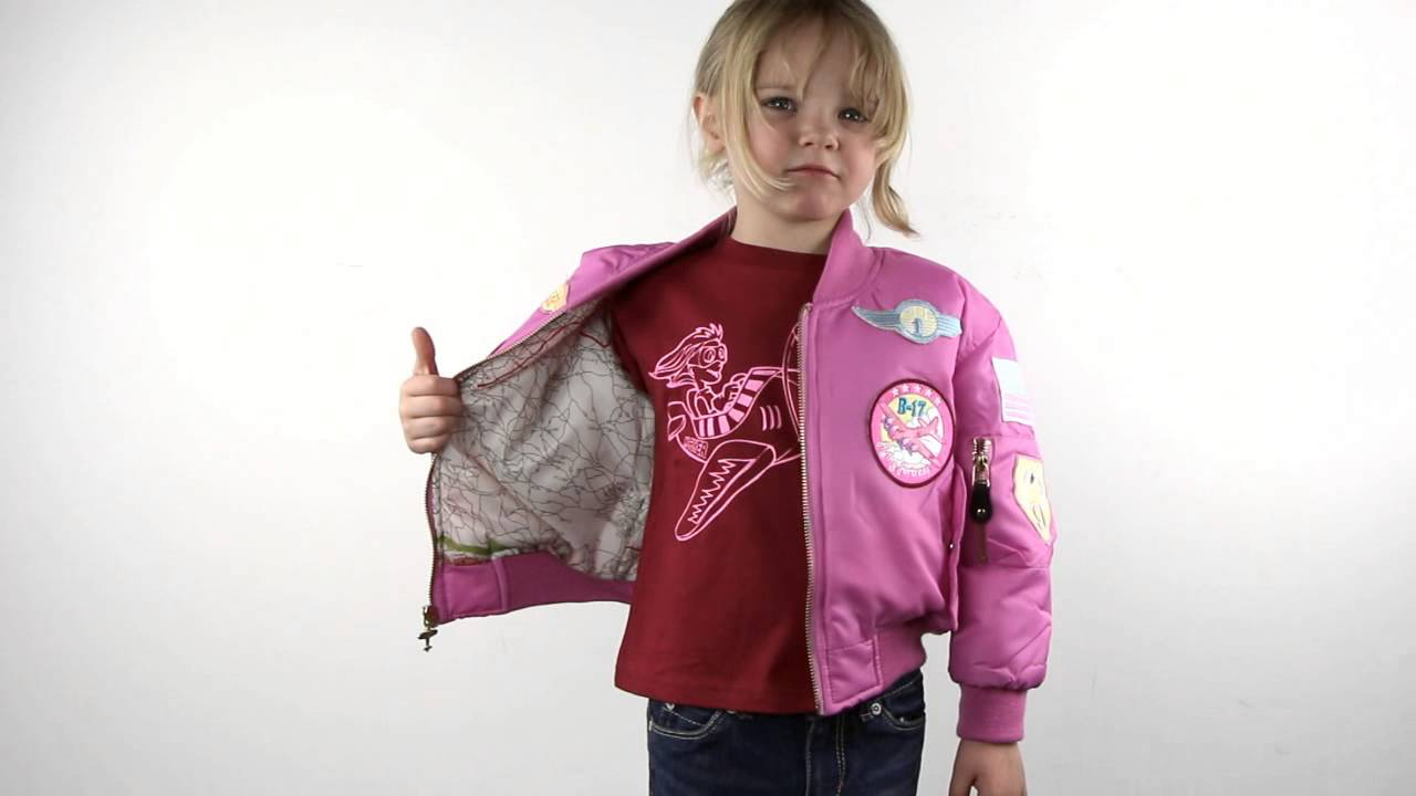1be45f553 Girl's Pink MA-1 Flight Jacket
