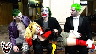 JOKER GROUP ANTICS at MEGACON!! Featuring HARLEY QUINN & BATMAN | Real Life Superhero Movie!!