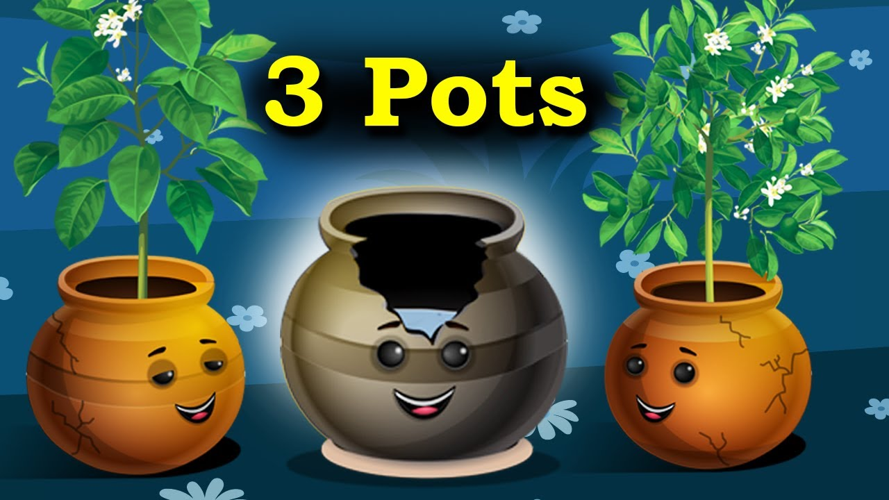 The Story of Three Pots English Moral Story || Animated Moral Stories