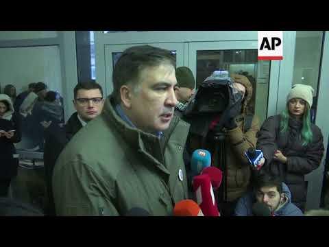 Saakashvili leaves prosecutor's office denounces arrest
