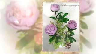 Цветы из бисера  Пионы
