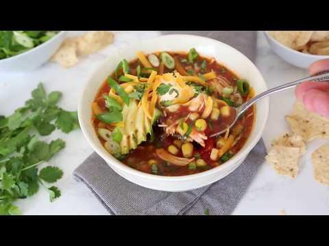Chicken Enchilada Soup (Slow Cooker or Instant Pot)