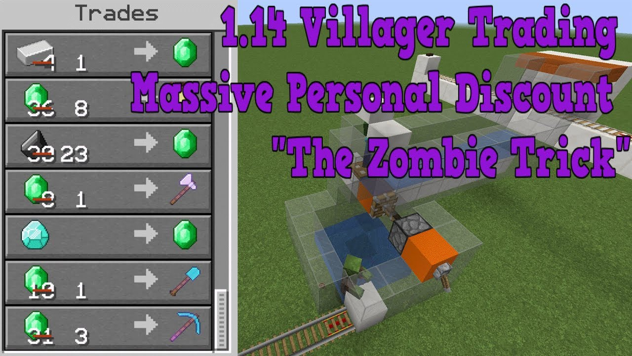 Minecraft 1140 Through 1143 Villager Trading Massive Personal Discount Feature