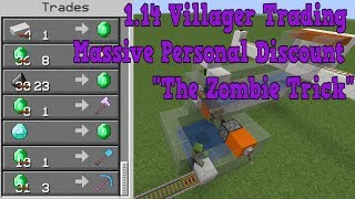 Minecraft 1 14 0 through 1 14 3 Villager Trading Massive Personal Discount Feature YouTube
