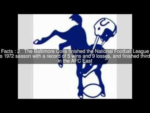 1972 Baltimore Colts season Top  #5 Facts