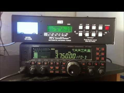 MFJ-993b automatic HF antenna tuner review and demo