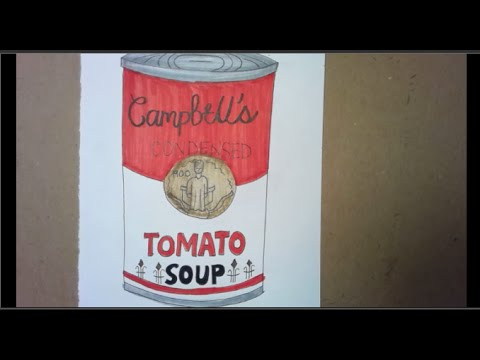 Lets Draw a Warhol inspired soup can using cylinders together