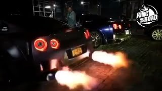 Amazing cars and supercars with flames and loud exhaust