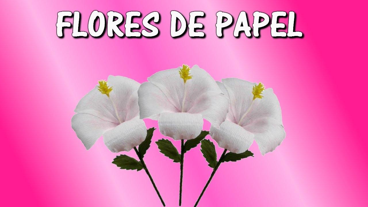 Flores De Papel Crepe Hibiscus