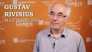 Masterclass amb Gustav Rivinius - Cicle Liceu Cambra
