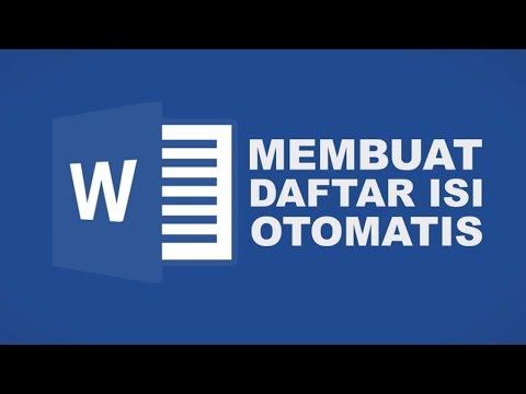 MEMBUAT DAFTAR ISI OTOMATIS MICROSOFT OFFICE WORD 2016