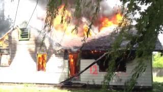 .Как горит частный жилой дом + доп