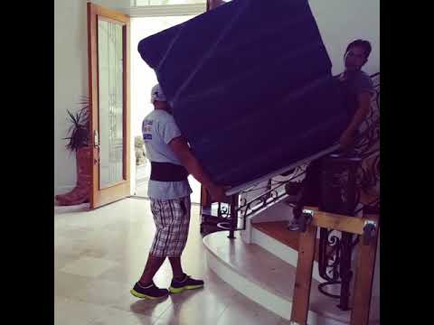How To Move A Big TV Down Stairs By Texas Move-It