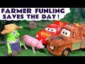 Funny Funlings Farmer Funling saves the animals for Mater and Lightning McQueen - Kids Story